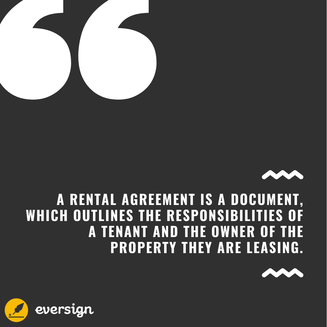 How To Create A Basic Rental Agreement Eversign
